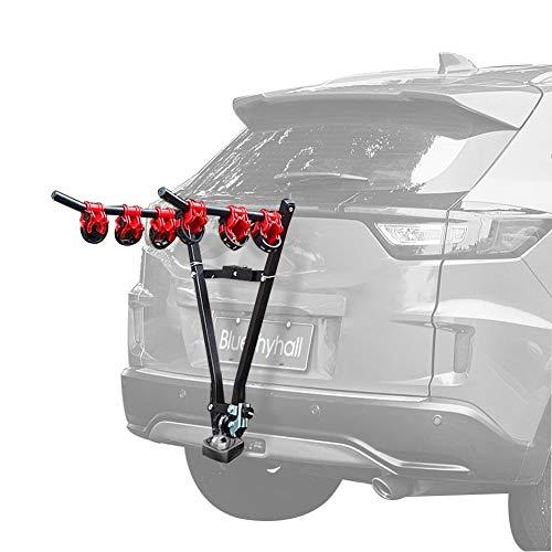 Soporte de bicicleta de hierro en forma de V para 3 bicicletas de montaje de enganche de coche de montaña para viajes