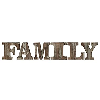 Torched Wood FAMILY Block Letters, Alphabet Tabletop Lettering Mantel Decor