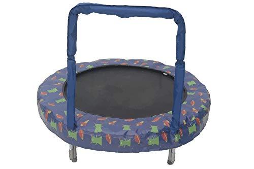 JumpKing Mini BouncerSpace - Cama elástica (121 cm), color azul