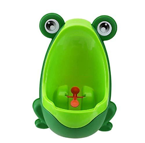 Lumanuby orinal, orinal para bebé, orinal infantil para niños y niños para montar en la pared, orinal niño verde verde Talla:30x21x17cm
