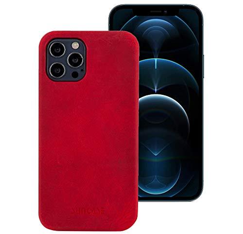 Suncase Funda de piel compatible con iPhone 12 Pro Max (6,7