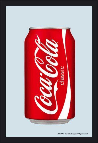 Empire 537379 Miroir imprimé canette de Coca Cola avec Cadre en Plastique faà§on Bois 20 x 30 cm