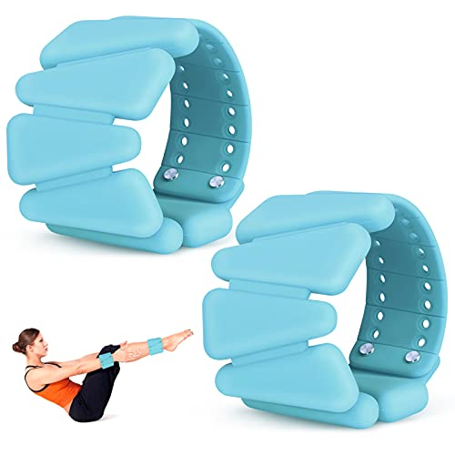 ACETOP Wrist Weights, Adjustable Silicone Women Men Weight Bracelets, Wearable Ankle/Wrist Weights Suitable for Yoga, Dance, Barbell, Pilates etc, 2 Pounds