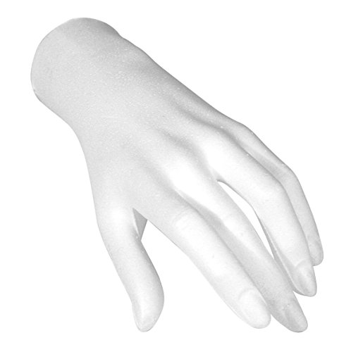 Rayher 3396900 Styropor-Hand, weiblich, 21 cm, zum Basteln und individuell gestalten