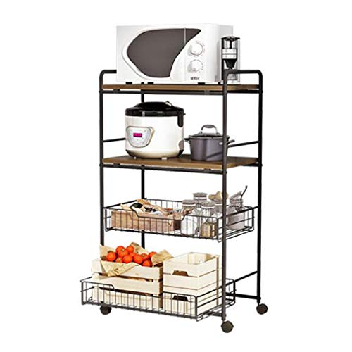 Find Bargain Fruit and Vegetable Rack Multifunction Kitchen Storage Rack Kitchen Shelf Multi-layer Vegetable Rack Microwave Storage Rack (Size : 4 layers)