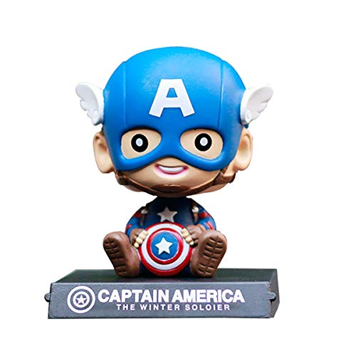 ZXWDIAAE Bobblehead Figures Car Decoration Marvel Robot Head Shaking Toy A, A