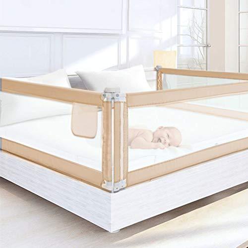 Trintion Baby Bettgitter Kinder Bettschutzgitter 200x68cm Höhenverstellbar Kinderbettgitter Klappbar Fallschutz für Familienbett und Kinderbett