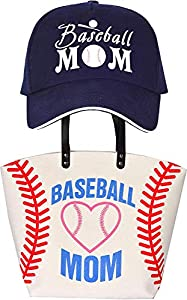 BASEBALL MOM PACK – This appealing Baseball Mom package comes with a beautiful baseball bag mom, a baseball mom trucker hat. All in One package for sports lover women! SPORTY LOOK – Attend your Baseball event with a sporty look as this affordable yet...