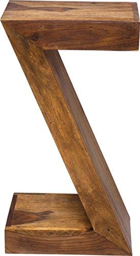KARE Design Mesa Authentic Z, Marrón, 55 x 30 x 20 cm, Madera, 20 x 30 x 55 cm