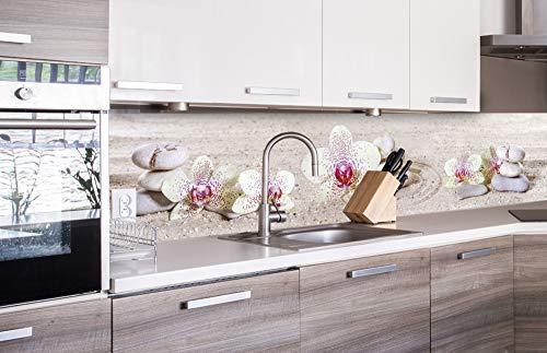 DIMEX LINE Küchenrückwand Folie selbstklebend Zen Garten | Klebefolie - Dekofolie - Spritzschutz für Küche | Premium QUALITÄT - Made in EU | 260 cm x 60 cm