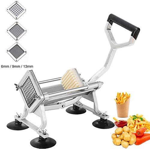 SHIJIAN Französisch Fries Cutter, Edelstahl Kartoffelschneider Professionelle Kartoffeln Chipper for Haus und gewerbliche Nutzung [2019 Upgraded]