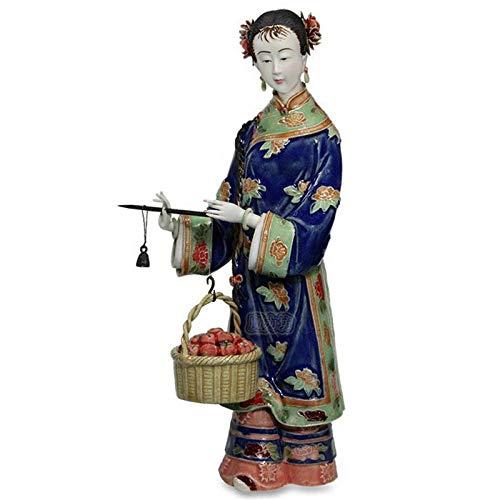 Estatuas Escultura Estatuillas,Cerámica Creativa Mujeres Hermosas Muñecas De Porcelana Antigua Figura Figurilla Escultura Coleccionable,Adornos Artesanales De Escritorio Estatuillas De Arte Decora