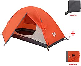 MIS MOUNTAIN INN SPORTS 1 Person Tent,Portable Backpacking Tent with Footprint,Double Layer Waterproof Outdoor Tent,Lightweight Dome Tent for Camping Hiking Mountaineering
