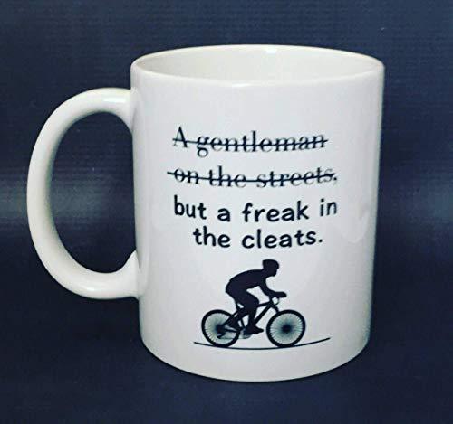 N\A Caballero en Las Calles Freak in The Cleats Taza de Bicicleta Taza de café Ciclista Taza Divertida Taza de Oferta Taza de Filadelfia