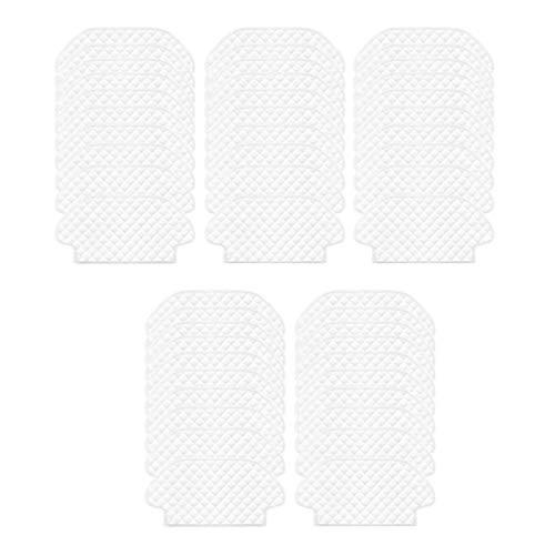 NLRHH Bürstenfilter 50 Stück Einwegtücher Mops für Viomi V2 Pro V3 V-RVCLM21B Mijia STYJ02YM für 3290/3490/3690 Zubehör