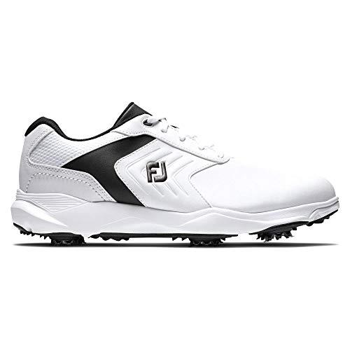 Footjoy Herren Ecomfort Golfschuh, Blanco/Negro, 44.5 EU