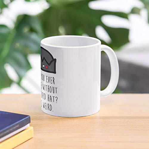 5TheWay Hat Meme Jughead Stupid Mug - Taza de café de Regalo de Moda Superventas Negra, Blanca, Cambia de Color 11 onzas, 15 onzas para Todos…