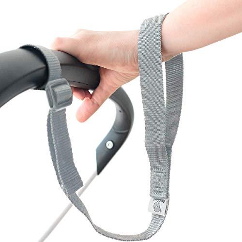 """""""Sicher ist sicher!"""" Längenverstellbare Kinderwagen-Sicherheitsschlaufe (grau) für das Handgelenk"""