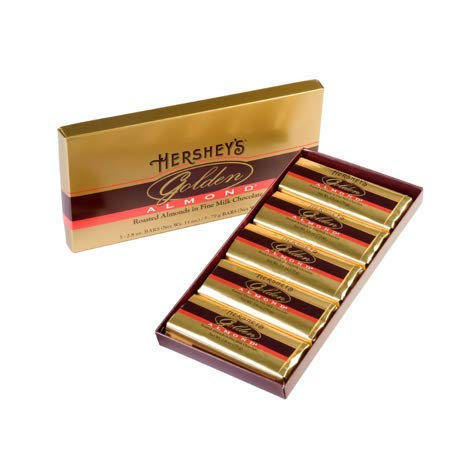HERSHEY'S GOLDEN ALMOND excellence Chocolate Bar M Fine Very popular Almonds in Roasted