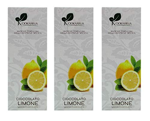 Ciokarrua Cioccolato Limone / Lemon Chocolate of Modica - 3 x 100 Gram