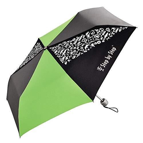 Step by Step Green / Grey Regenschirm