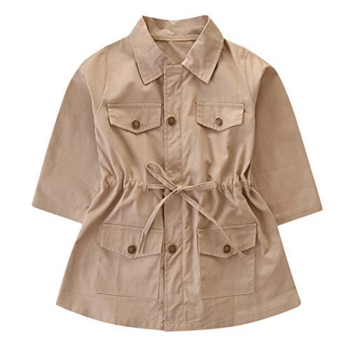 Coat HEternal Baby Boys Girls Trench Jacket Romper Winter Warm Jacket Hooded Windproof Sweater Down Cardigan Long Sleeve Cotton 6 7 Years Khaki