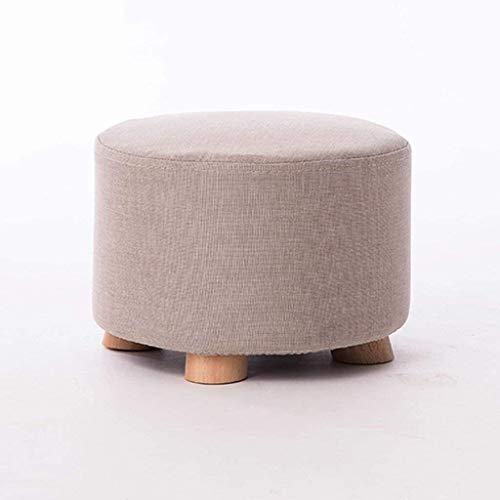 SHOP YJX Banco de madera maciza con cambio de zapatos de lino, a prueba de polvo, mesa de café, taburete de sofá, taburete de madera (color: gris)