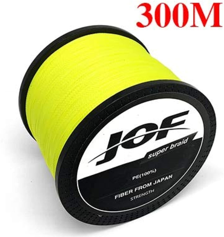 CUSHY JOF Braided Fishing Line 8 Strands Fluorescent Yellow 100M 150M 300M 500M 1000M Cord linha multifilamento 8 Fishing  300M, 8.0