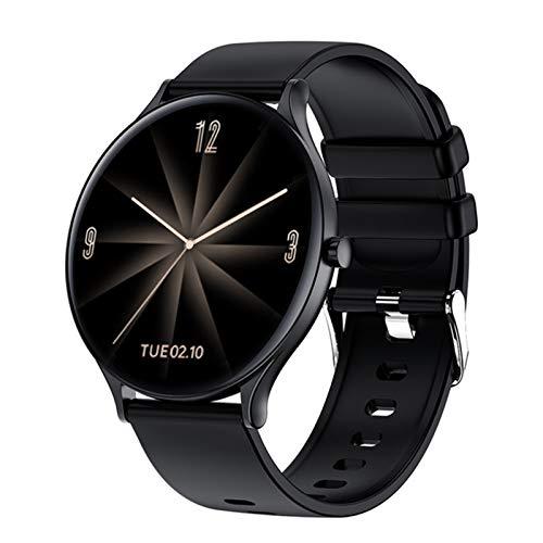 XYG QW13 Smart Watch Runde dünne Sportuhr Herren- und Frauen Herzfrequenz-Monitor IP67 wasserdichte Fitness-Band für Android iOS,C