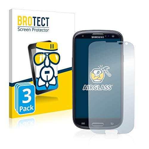 brotect Pellicola Protettiva Vetro Compatibile con Samsung Galaxy S3 Neo (3 Pezzi) Schermo Protezione, Estrema Durezza 9H, Anti-Impronte, AirGlass