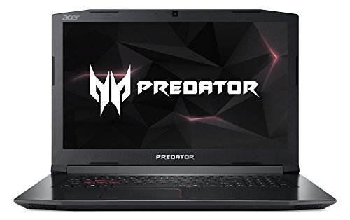 Acer Predator Helios 300 PH317-51-75GZ 43.9 cm (17.3 Inch Full HD IPS Matte) Gaming Laptop (Intel Core i7-7700HQ, 8GB RAM, 1000GB HDD, GeForce GTX 1060 (6GB VRAM), Win 10) Black