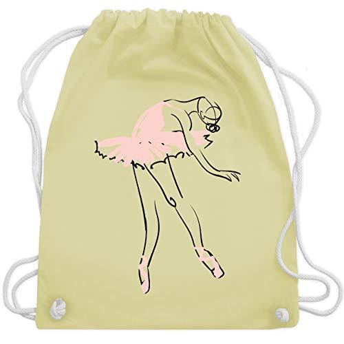Shirtracer Tanzsport - Balletttänzerin Ballerina - Unisize - Pastell Gelb - ballet - WM110 - Turnbeutel und Stoffbeutel aus Baumwolle
