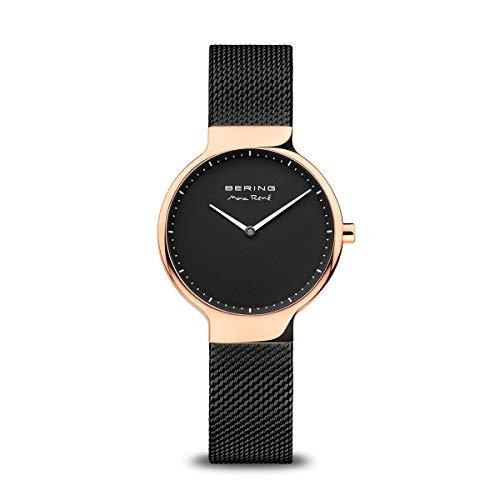 Bering Damen Analog Quarz Uhr mit Edelstahl Armband 15531-262