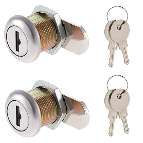 2 cerraduras de seguridad para buzón de 16 mm, cierre de cajón de seguridad con 4 llaves iguales para buzón, taquillas, armarios, caja de herramientas, cajón