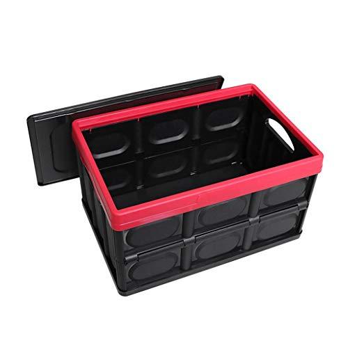 LDG Opvouwbare kofferbak-organizer voor auto, met deksel, ideaal voor SUV, minivan, truck, kantoor, thuis zwart