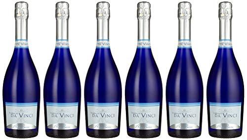 Leonardo da Vinci Secco - Perlwein in blauer Flasche, 6er Pack (6 x 750ml)
