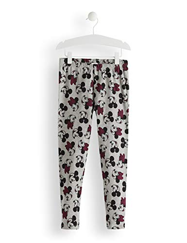 RED WAGON Mädchen Minnie Mouse Grey All Over Print Leggings, Grau AOP, 110 (Herstellergröße: 5)