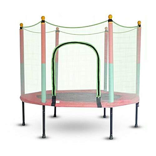 Cama elástica para niños con red de seguridad cerrada para interiores y exteriores, guarderías y otras escenas