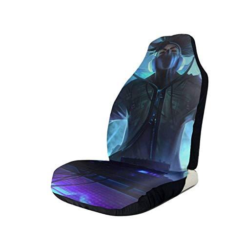 Fundas de asiento de coche Lea-GUE Leg-en-ds Ya-SUO Protector de asiento delantero impreso en 3D asientos delanteros universales, fundas antideslizantes para la mayoría de coches, sedan, SUV Truck