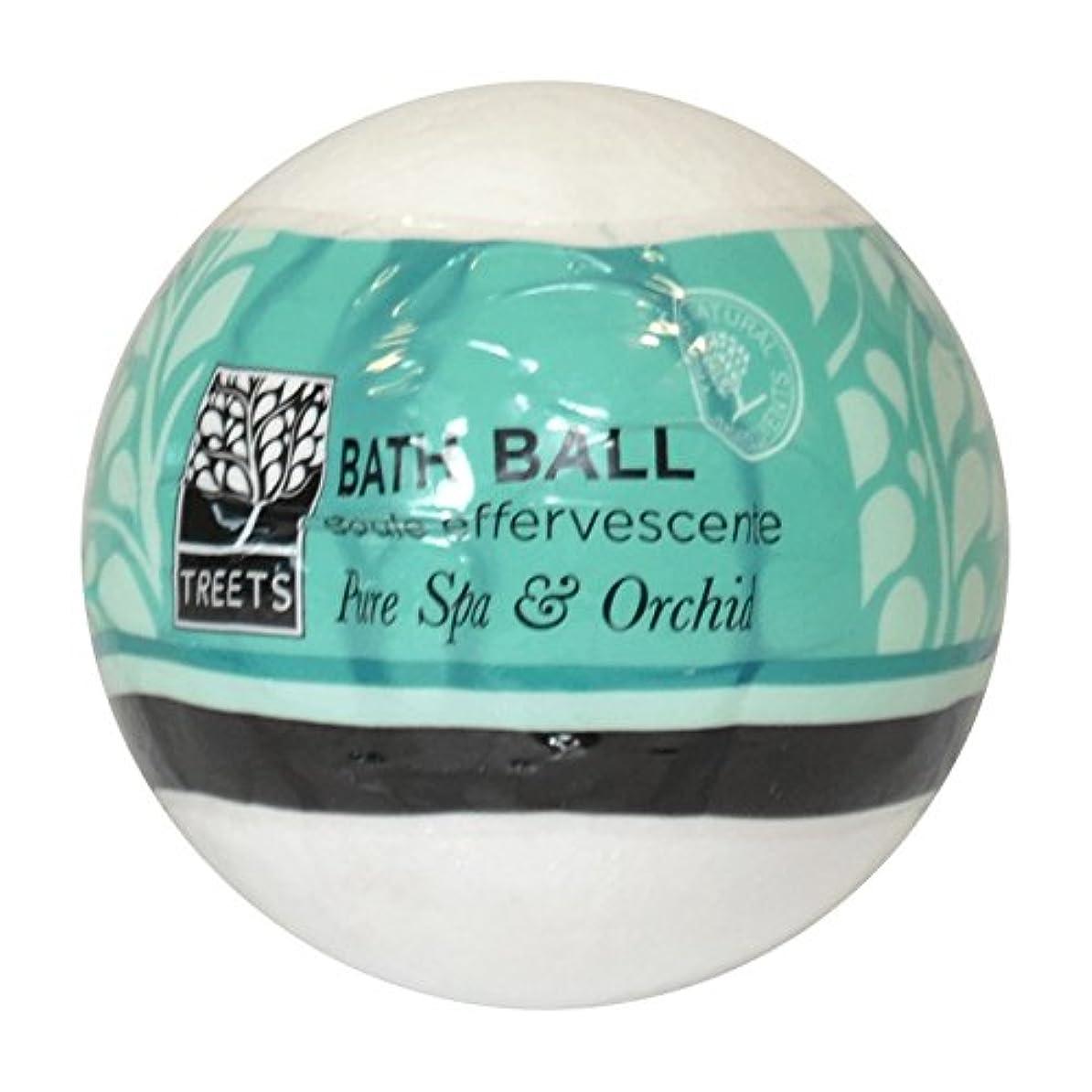 しっとり現実には穴Treets Orchid & Pure Spa Bath Ball (Pack of 2) - Treets蘭&純粋なスパバスボール (x2) [並行輸入品]
