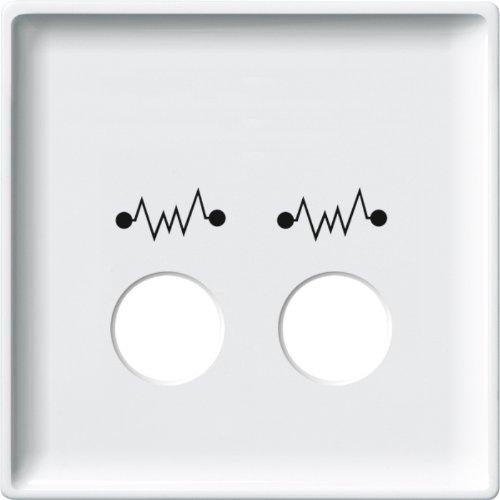 Merten 443819 centrale plaat voor telefooneenheid als diagnostisch stopcontact, poolwit, Sys. Oppervlak
