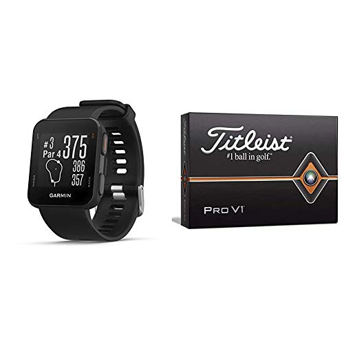 Buy Bargain Garmin Approach S10 - Lightweight GPS Golf Watch, Black, 010-02028-00 & Titleist Pro V1 ...