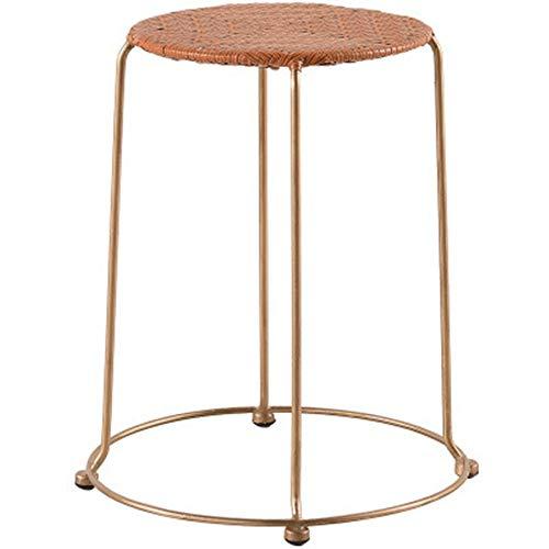 KYEEY Niedriger Kinderstuhl mit kleinem runden Hocker, stilvoller Rattan-Hocker für Schlafzimmer und Flur, mehrfarbig, optional für Erwachsene (Farbe: sieben, Größe: 30 x 30 x 45 cm)