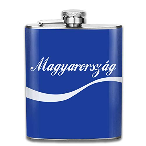 Euro 2016 Football Hongrie Magyarorszag Wave Blue Print Flag Flasque de poche Flag Flag en acier inoxydable portable 200 ml