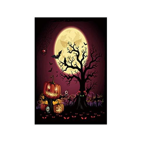 Heetey Decoración de Halloween, murciélago, calabaza y bruja, decoración de jardín, pancarta, decoración para fiestas, casetas de spuk, guirnalda, colgante, pancarta, decoración, 30 x 45 cm