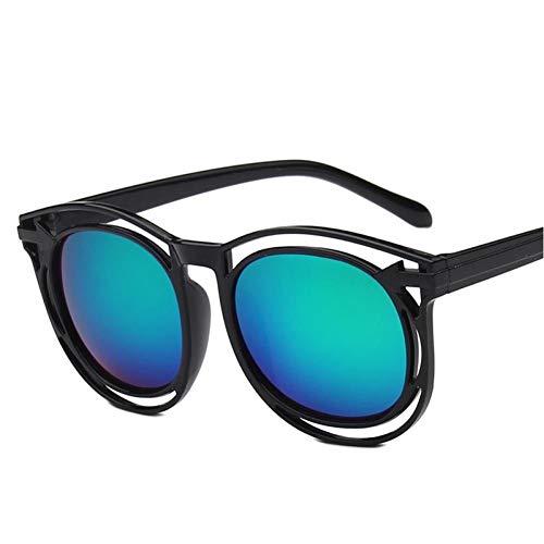 EDCPLM Gafas De Sol para Hombres, Mujeres, Adultos, Gafas De Espejo, Venta De Gafas De Sol De Película En Color, Gafas Grandes para Hombre, Restaurando Formas Antiguas, Lo Nuevo C6 Black