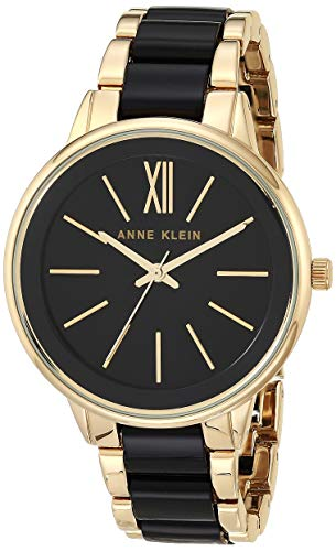 Anne Klein Women#039s AK/1412BKGB GoldTone and Black Dress Watch