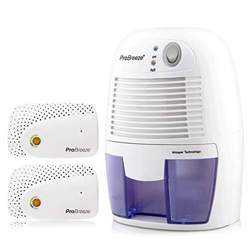 electric dehumidifiers Pro Breeze Electric Dehumidifier 2200 Cubic Feet (215 sq ft) & Pro Breeze Wireless Mini Dehumidifier x2