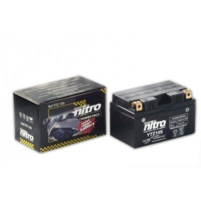 NITRO Batterie YTZ10S 12 Volt Geltechnologie Wartungsfrei, gefüllt und geladen