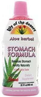 Lily Of The Desert Aloe Vera Juice Stomach Formula, 32 Ounce - 3 per case.